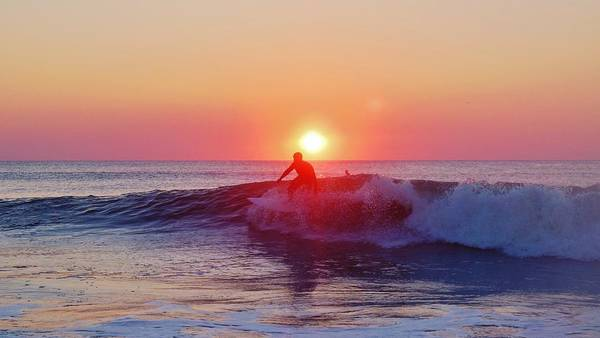 Standup Paddleboard Photograph - Surfer Sunrise 6 10/2 by Mark Lemmon