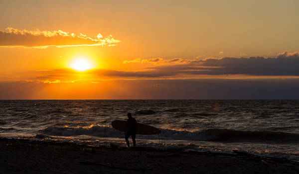 Photograph - Surfer Sunset by Clint Buhler