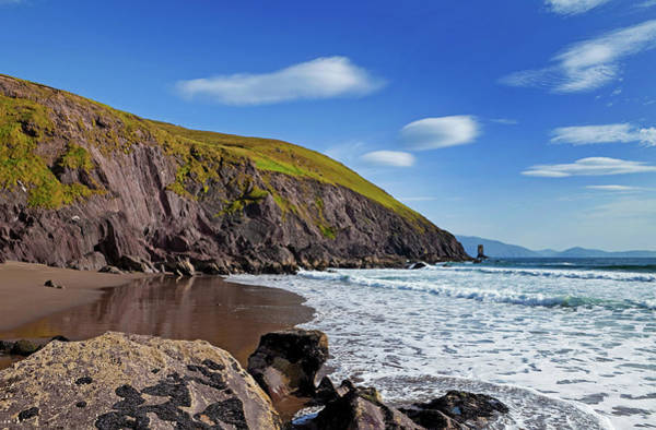 Dingle Peninsula Photograph - Surfers On Dun Cin Tire Beach by Panoramic Images