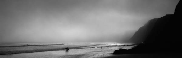 Marin Photograph - Surfers On The Beach, Point Reyes by Panoramic Images