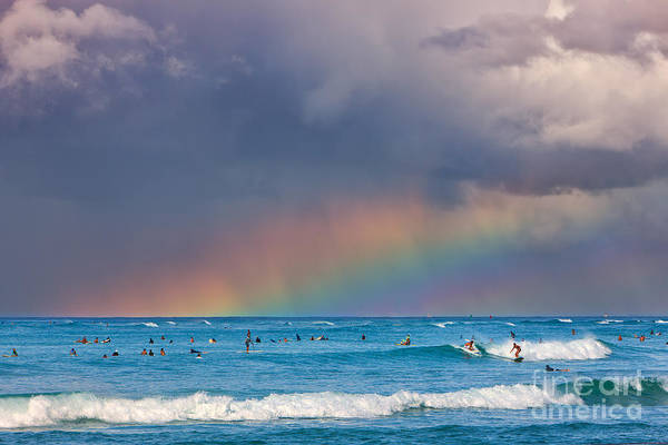 Meijer Wall Art - Photograph - Surfers Under The Rainbow by Henk Meijer Photography