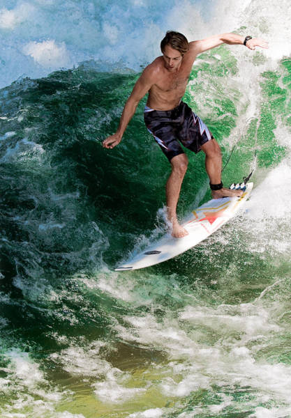Board Photograph - Surfin` by Rafael Scheidle