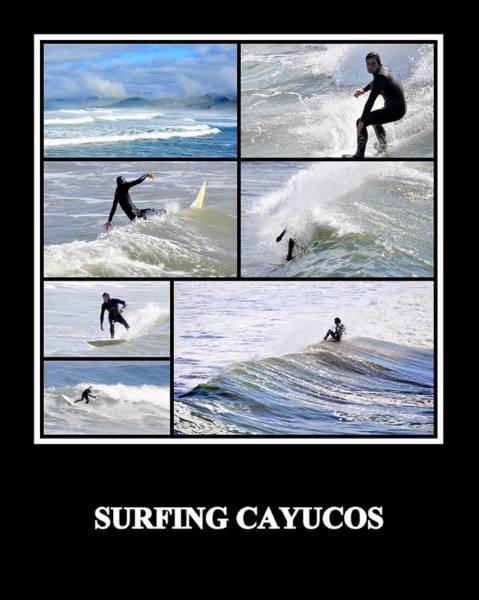 Photograph - Surfing Cayucos by AJ  Schibig