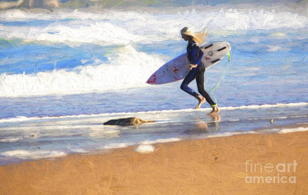 Wall Art - Photograph - Surfing Girl by Sheila Smart Fine Art Photography