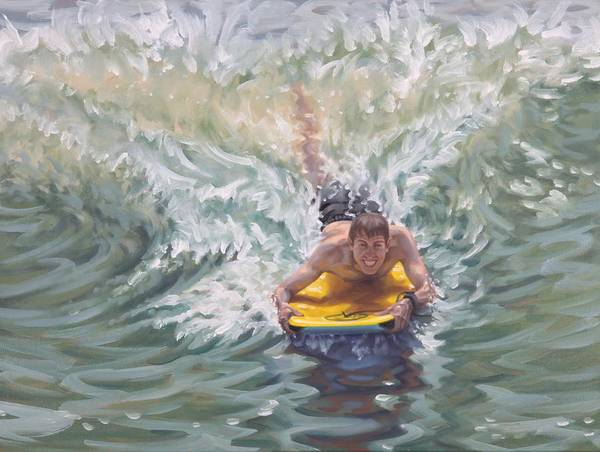 Painting - Surfing The A-frame by Gary M Long