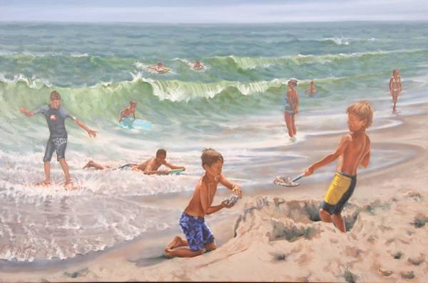 Painting - Surf's Up by Gary M Long