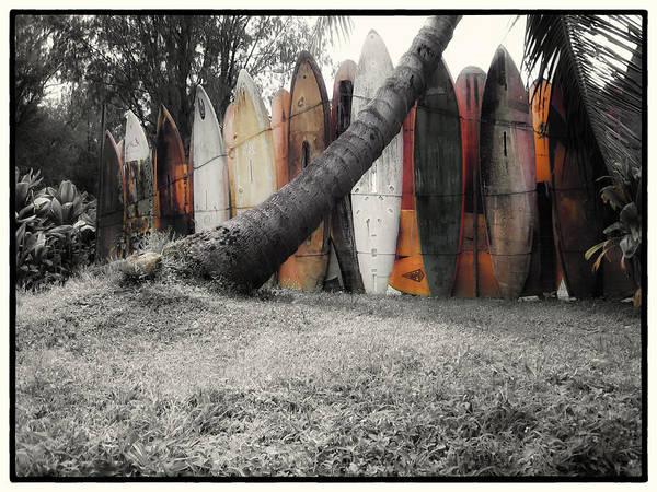 Surfboard Fence Photograph - Surfs Up by Linda Dunn