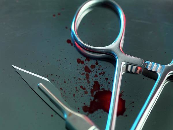 Medical Image Photograph - Surgical Instruments by Tek Image/science Photo Library