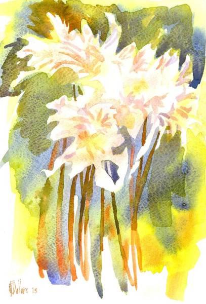 Painting - Surprise Lilies Iv A Portrait by Kip DeVore