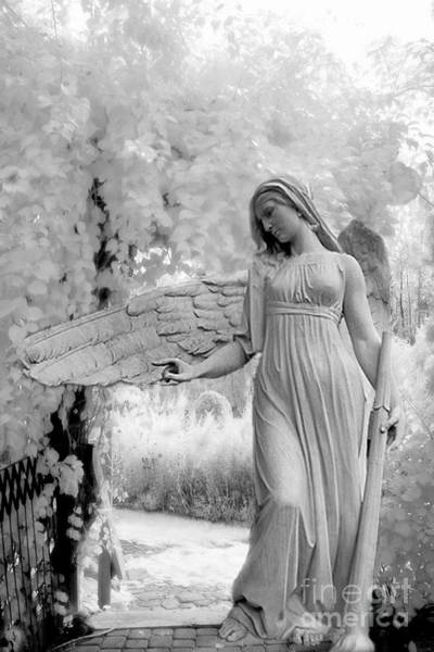 Infrared Photograph - Surreal Dreamy Fantasy Infrared Angel Nature by Kathy Fornal
