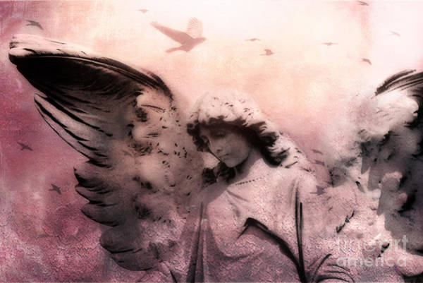 Ethereal Photograph - Surreal Fantasy Angel With Large Wings - Spiritual Ethereal Angel Art by Kathy Fornal