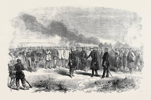 Ukraine Drawing - Surrender Of The Russian General At Kinburn by English School