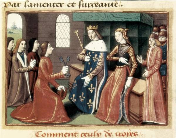 1431 Photograph - Surrender Of Troyes. The Bourgeoises by Everett