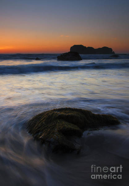 Rock Face Photograph - Surrounded By The Tide by Mike  Dawson