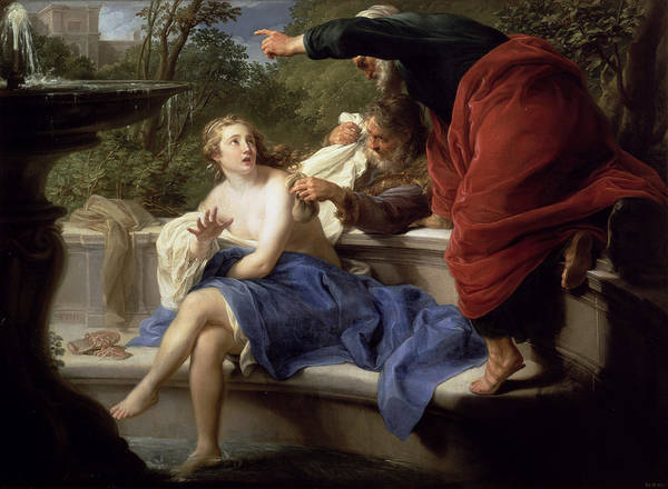 Virtue Photograph - Susanna And The Elders, 1751 by Pompeo Girolamo Batoni