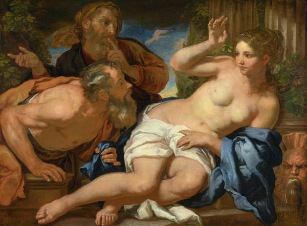 Wall Art - Painting - Susannah And The Elders by Granger