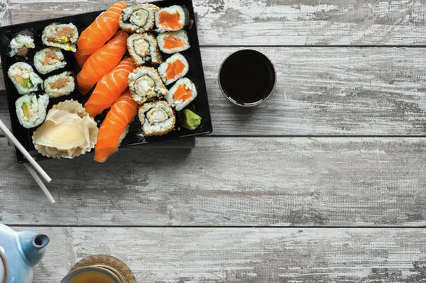 Seafood Photograph - Sushi by A.y. Photography