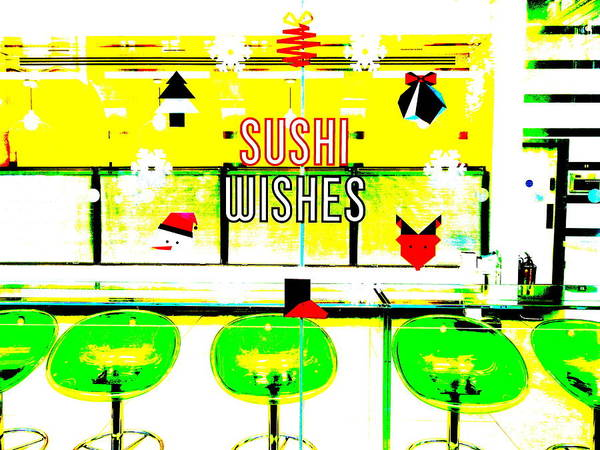 Wall Art - Photograph - Sushi Christmas Wishes In London by Funkpix Photo Hunter