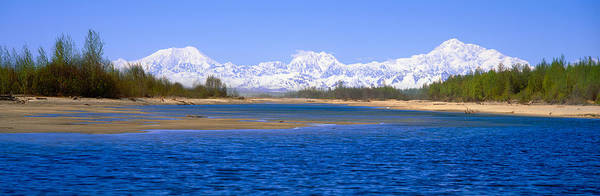 Escarpment Photograph - Susitna River And Mount Mckinley, Alaska by Panoramic Images
