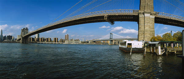Wall Art - Photograph - Suspension Bridge Across A River by Panoramic Images