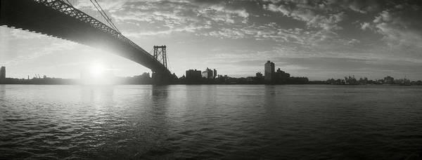 Williamsburg Bridge Photograph - Suspension Bridge At Sunrise by Panoramic Images