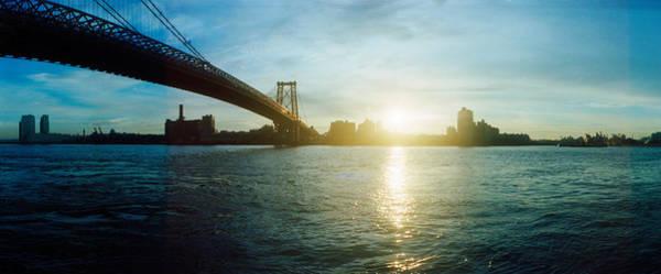 Williamsburg Bridge Photograph - Suspension Bridge Over A River by Panoramic Images