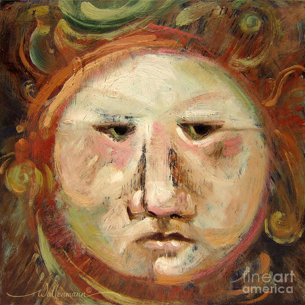 Painting - Suspicious Moonface by Randy Wollenmann