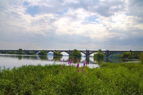 Lancaster County Photograph - Susquehanna River And The Veterans Memorial Bridge by Bill Cannon