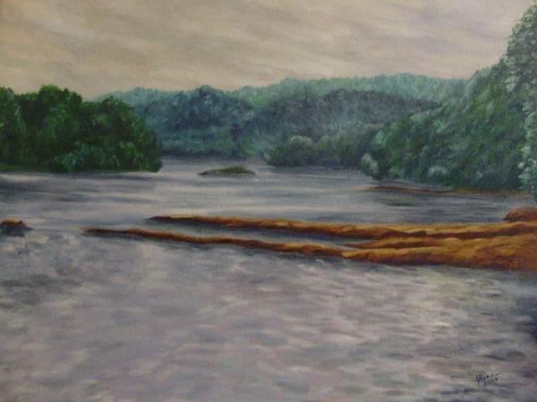 Wall Art - Painting - Susquehanna River At Saginaw Pa by Joann Renner