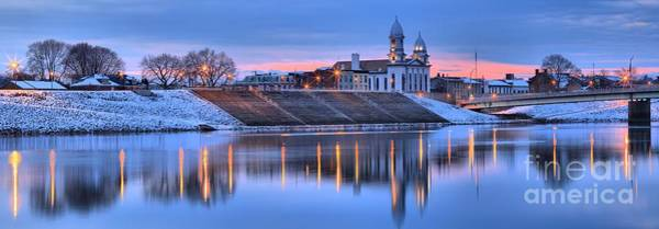 Lock Haven Wall Art - Photograph - Susquehanna River Reflection Panorama by Adam Jewell