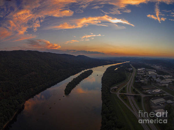 Lock Haven Wall Art - Photograph - Susquehanna River Sunset by Tony Cooper