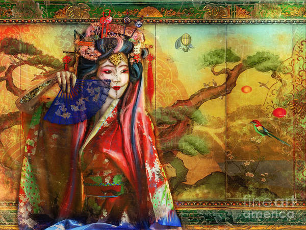 Kimono Digital Art - Suteki by MGL Meiklejohn Graphics Licensing