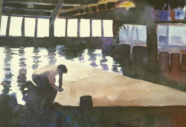 Sausalito Painting - Sutter Sail Loft by Hil Hawken