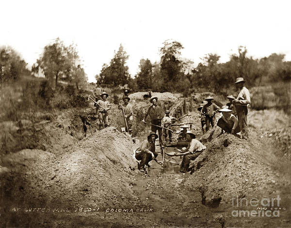 Photograph - Sutters Mill California Gold Rush Coloma California 1850 by California Views Archives Mr Pat Hathaway Archives