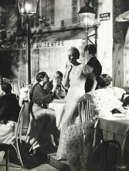Wall Art - Photograph - Suzette Salen In A Heim Gown by George Hoyningen-Huene