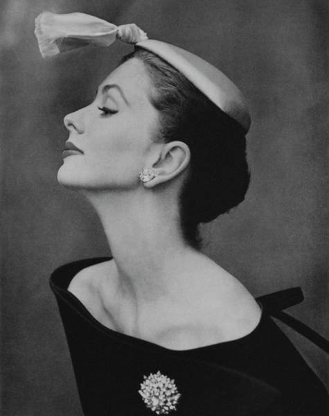 Photograph - Suzy Parker In An Off-the-shoulder Dress by John Rawlings
