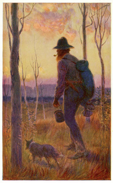 Wall Art - Drawing - Swagman In Australia, A Transient by Mary Evans Picture Library