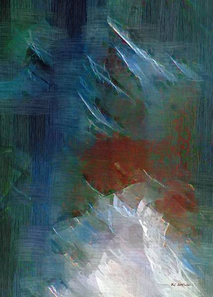 Wall Art - Painting - Swallowing Words by RC DeWinter
