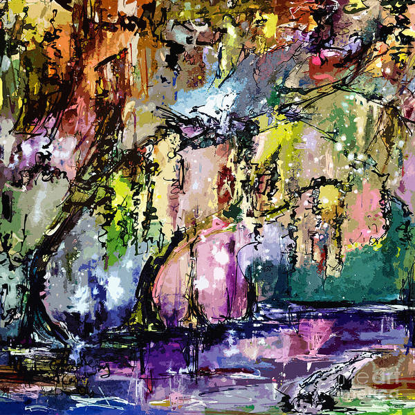 Painting - Swamp Magic Abstract by Ginette Callaway