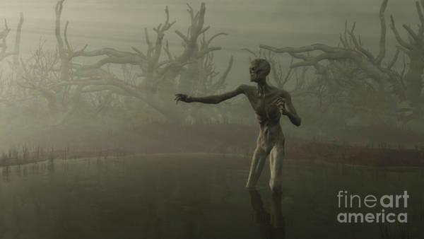 Fairy Pools Digital Art - Swamp Zombie by Fairy Fantasies