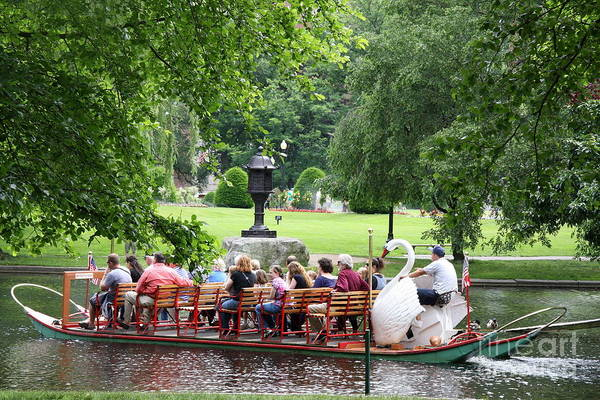 Swan Boats Photograph - Swan Boat - Boston by Christiane Schulze Art And Photography