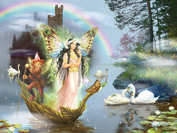 Swan Photograph - Swan Lake Fairy by MGL Meiklejohn Graphics Licensing