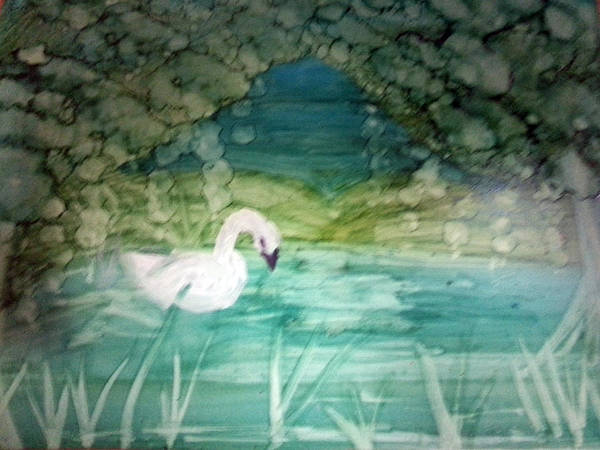 Painting - Swan Lake by Kelly Dallas