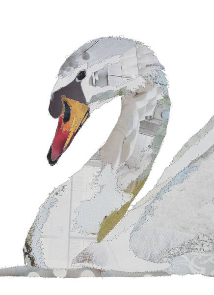 Stitch Painting - Swan by MGL Meiklejohn Graphics Licensing