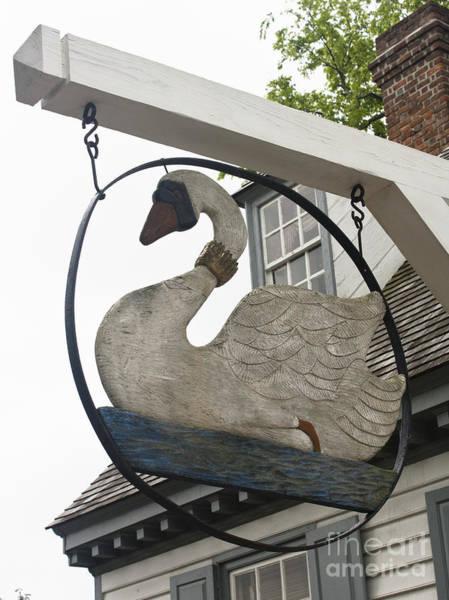 Historic Triangle Photograph - Swan Tavern Sign Yorktown by Teresa Mucha