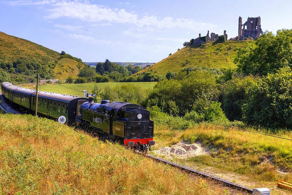 Fortification Photograph - Swanage Steam Railway by Joana Kruse