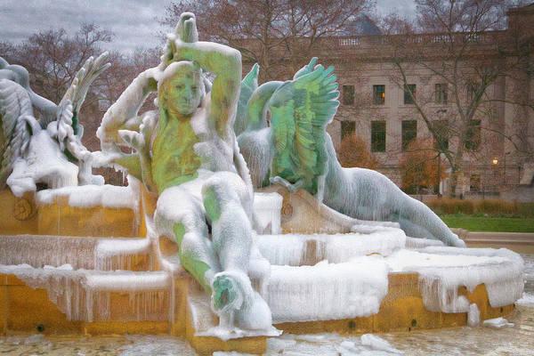 Photograph - Swann Fountain Ice by Alice Gipson