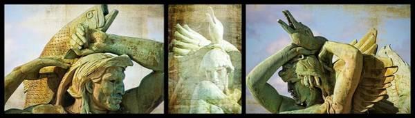 Photograph - Swann Fountain Triptych by Alice Gipson