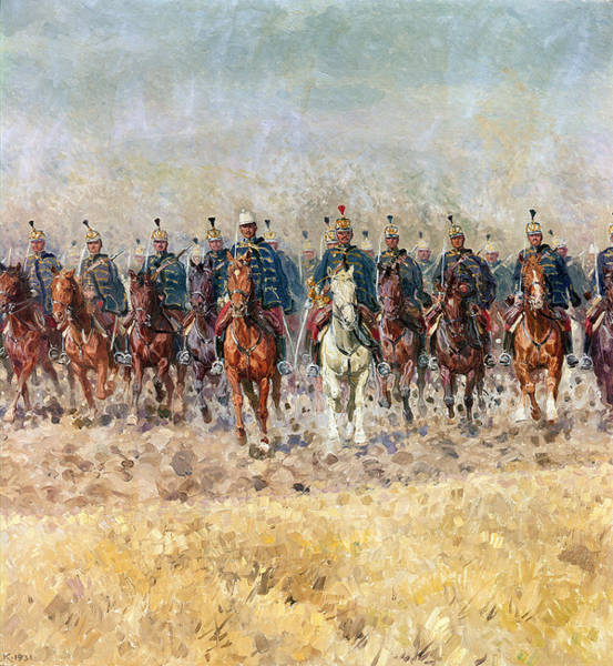 Campaign Painting - Swansong Of The Hussars by Ludwig Koch