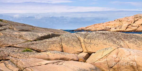 Photograph - Swedish Cliffs Panorama by Lutz Baar